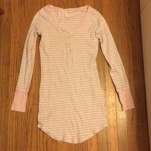 VIctorias Secrets pink Stripped pajama dress XS